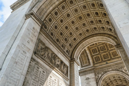 Arc de Triomphe Blick nach oben