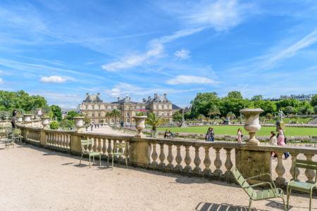 Jardin du Luxembourg Blick auf den Palais