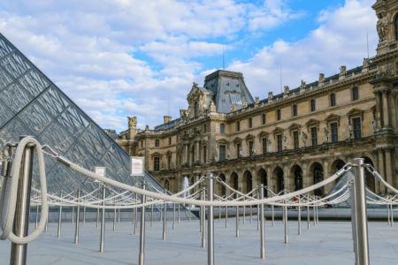 Musee du Louvre nichts los am Wartebereich