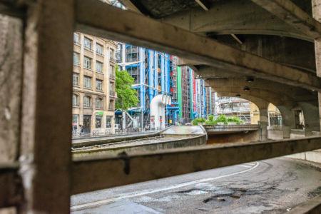Blick auf das Centre Georges Pompidou