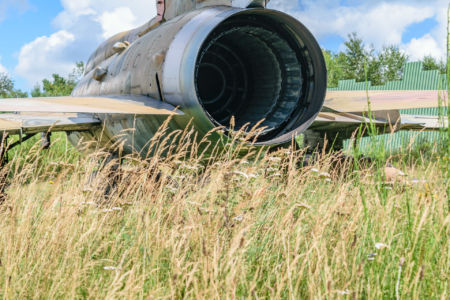 Lockheed F-104 von hinten